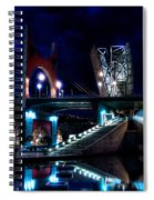 The Riverside Pool Of The Guggenheim Museum In Bilbao Spain Spiral Notebook