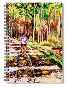 The Road Not Taken Spiral Notebook