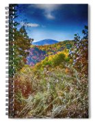 The Road To Cataloochee On A Frosty Fall Morning Spiral Notebook