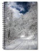 The Road To Winter Wonderland Spiral Notebook