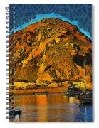 The Rock At Morro Bay Abstract Spiral Notebook