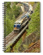 The Rocky Mountaineer Above The Cheakamus River Spiral Notebook