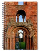 The Romanesque Doorway In The Monastery Spiral Notebook