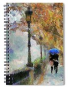 The Romantic Stroll Spiral Notebook