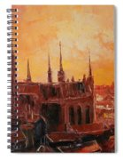 The Roofs Of Gdansk Spiral Notebook