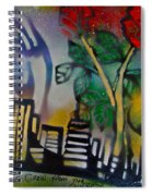 The Rose From The Concrete Gold Spiral Notebook