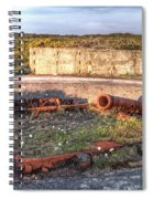 The Ruins Of A Ww2 Cannon And Bunkers Spiral Notebook