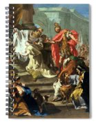 The Sacrifice Of Jephthahs Daughter Spiral Notebook