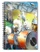 The Saints Parade In New Orleans 2010 01 Spiral Notebook