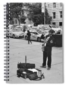 The Saxman In Black And White Spiral Notebook