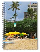 The Scene At Waikiki Beach Spiral Notebook