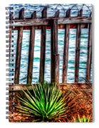 The Sea Fence Siesta Key Fla. Spiral Notebook