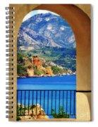 The Sea Through The Portico Spiral Notebook