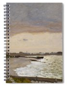 The Seashore At Sainte Adresse Spiral Notebook