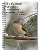The Season Of Love  Spiral Notebook