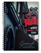 The Second Fiddle Spiral Notebook