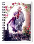 Watercolor Of A Boy And Girl In Their Secret Garden Spiral Notebook