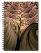 The Secret World Of Plants Abstract Spiral Notebook