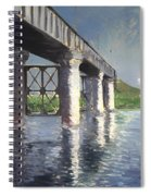 The Seine And Railroad Bridge At Argenteuil Spiral Notebook