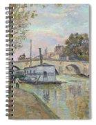 The Seine In Paris  Spiral Notebook