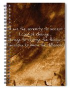 The Serenity Prayer 1 Spiral Notebook