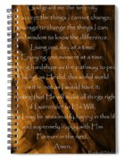 The Serenity Prayer Spiral Notebook