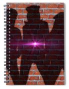 The Shadow Of The Grafitti Ladies Spiral Notebook
