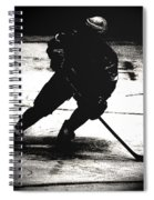 The Shadows Of Hockey Spiral Notebook