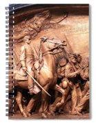 Saint Gaudens' The Shaw Memorial Spiral Notebook