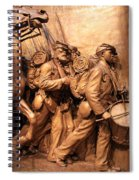 Saint Gaudens -- The Shaw Memorial's Right Side Spiral Notebook