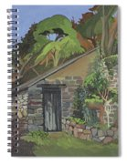 The Shed, Clovelly Oil On Board Spiral Notebook