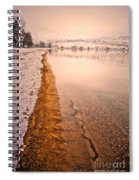 The Shore In Winter Spiral Notebook