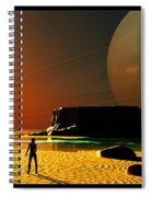 The Shore Of The Cupric Seas... Spiral Notebook
