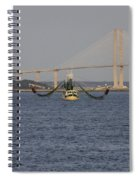 The Shrimp Boat Predator  Art Spiral Notebook