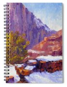 The Side Of The Road At Zion Spiral Notebook
