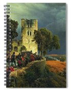 The Siege. Defense Of A Church Courtyard During The Thirty Years' War Spiral Notebook