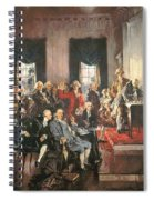 The Signing Of The Constitution Of The United States In 1787 Spiral Notebook