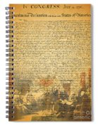 The Signing Of The United States Declaration Of Independence Spiral Notebook