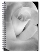The Silver Rose In Portrait Spiral Notebook