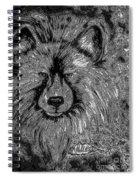 The Silver Wolf Spiral Notebook