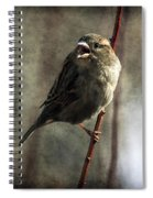 The Singing Sparrow Spiral Notebook