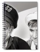 The Skipper And Gilligan Spiral Notebook