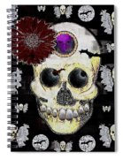 The Skull Is In Love With Cupidos Spiral Notebook