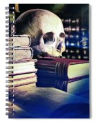 The Skull The Spell Book And The Rose Spiral Notebook