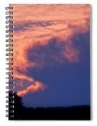 The Sky On Fire Spiral Notebook