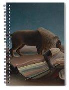 The Sleeping Gypsy Spiral Notebook