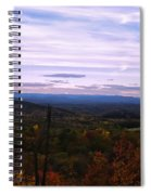 The Smokey Mountains From Hanging Rock State Park Spiral Notebook