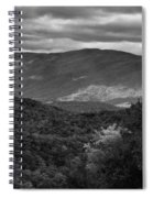The Smokies In Black And White Spiral Notebook