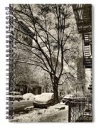 The Snow Tree - Sepia Antique Look Spiral Notebook