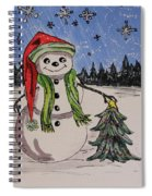 The Snowman's Tree Spiral Notebook